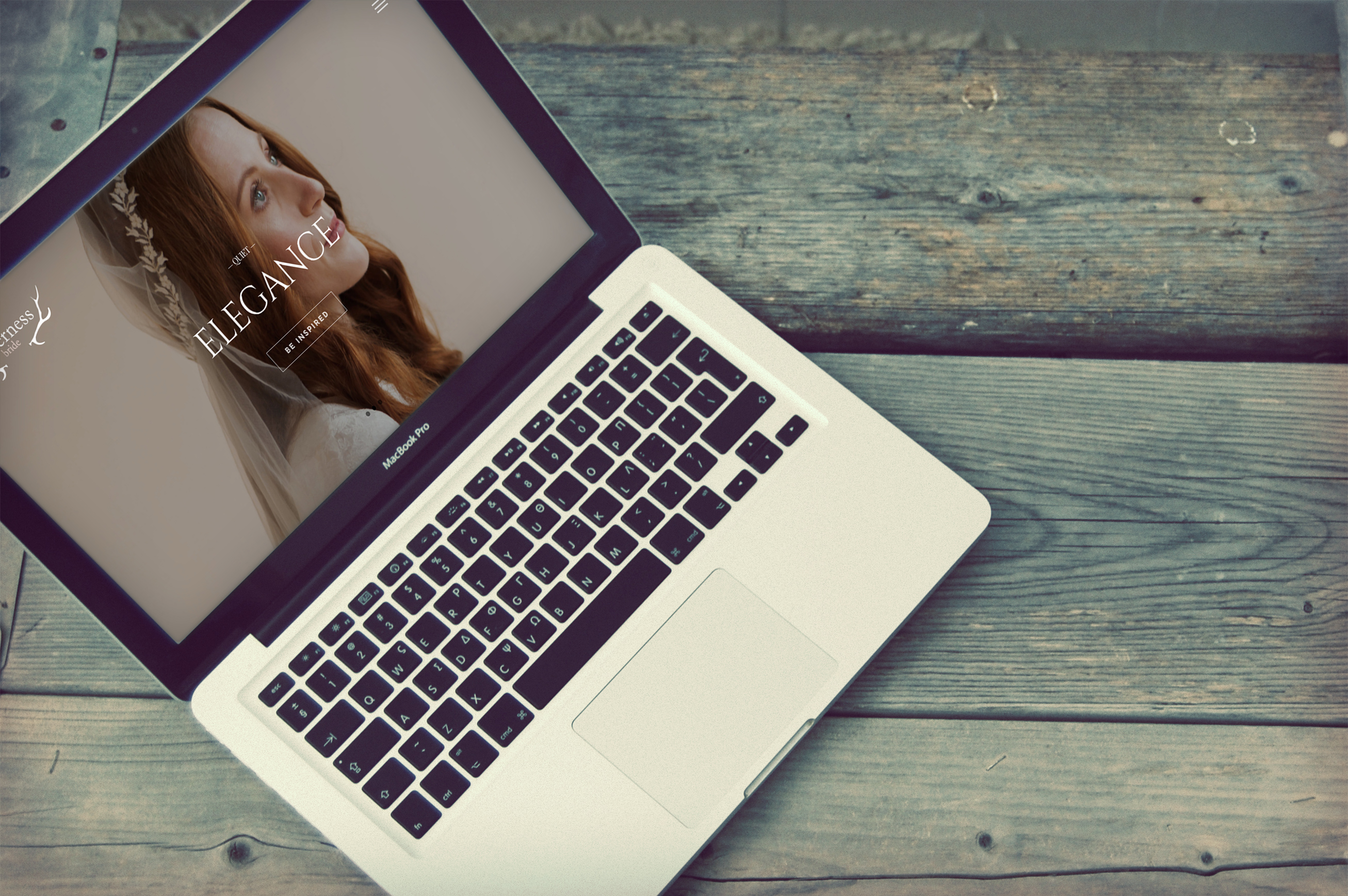 Web design for Wilderness Bride, Knutsford