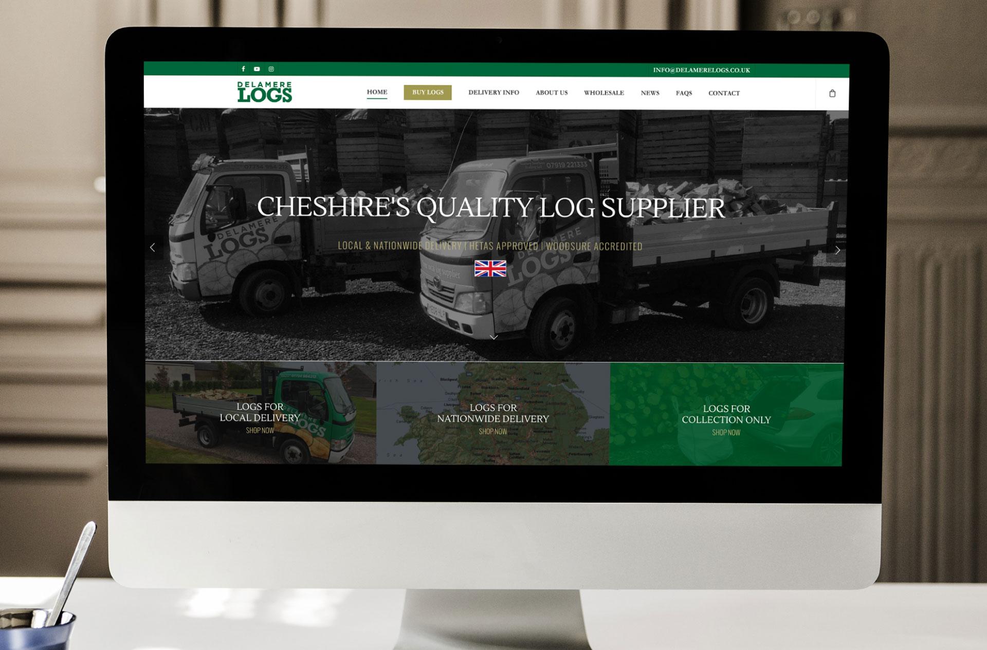 Website design for Delamere Logs