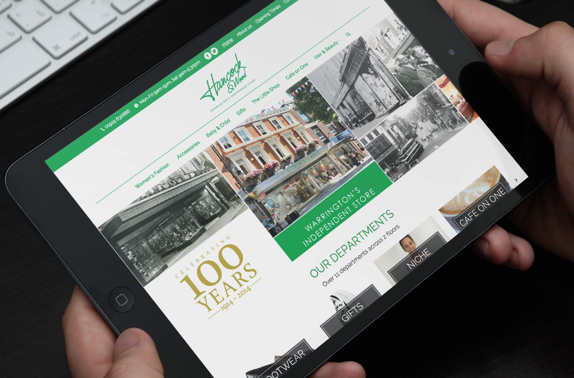 Logo and Website design for Hancock & Wood, Warrington