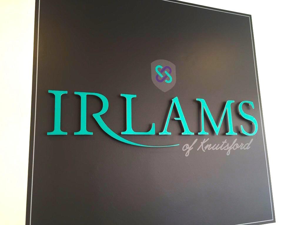 Logo design for Irlams of Knutsford
