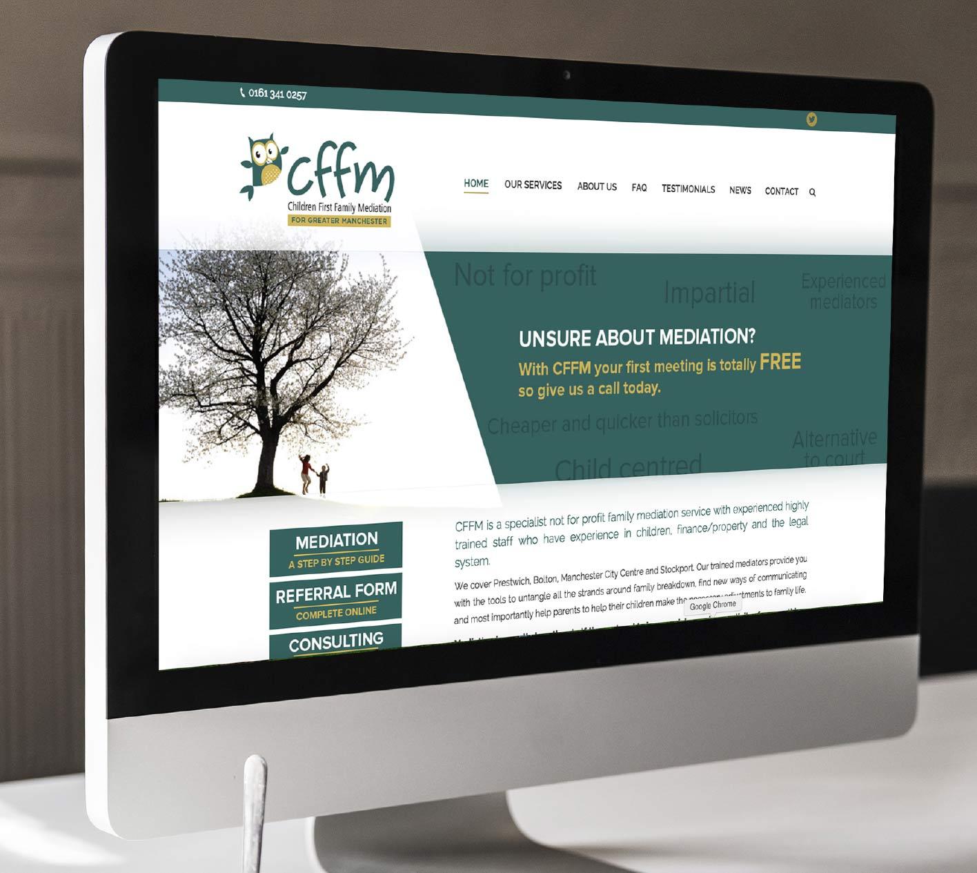 Website design for Children First Family Mediation