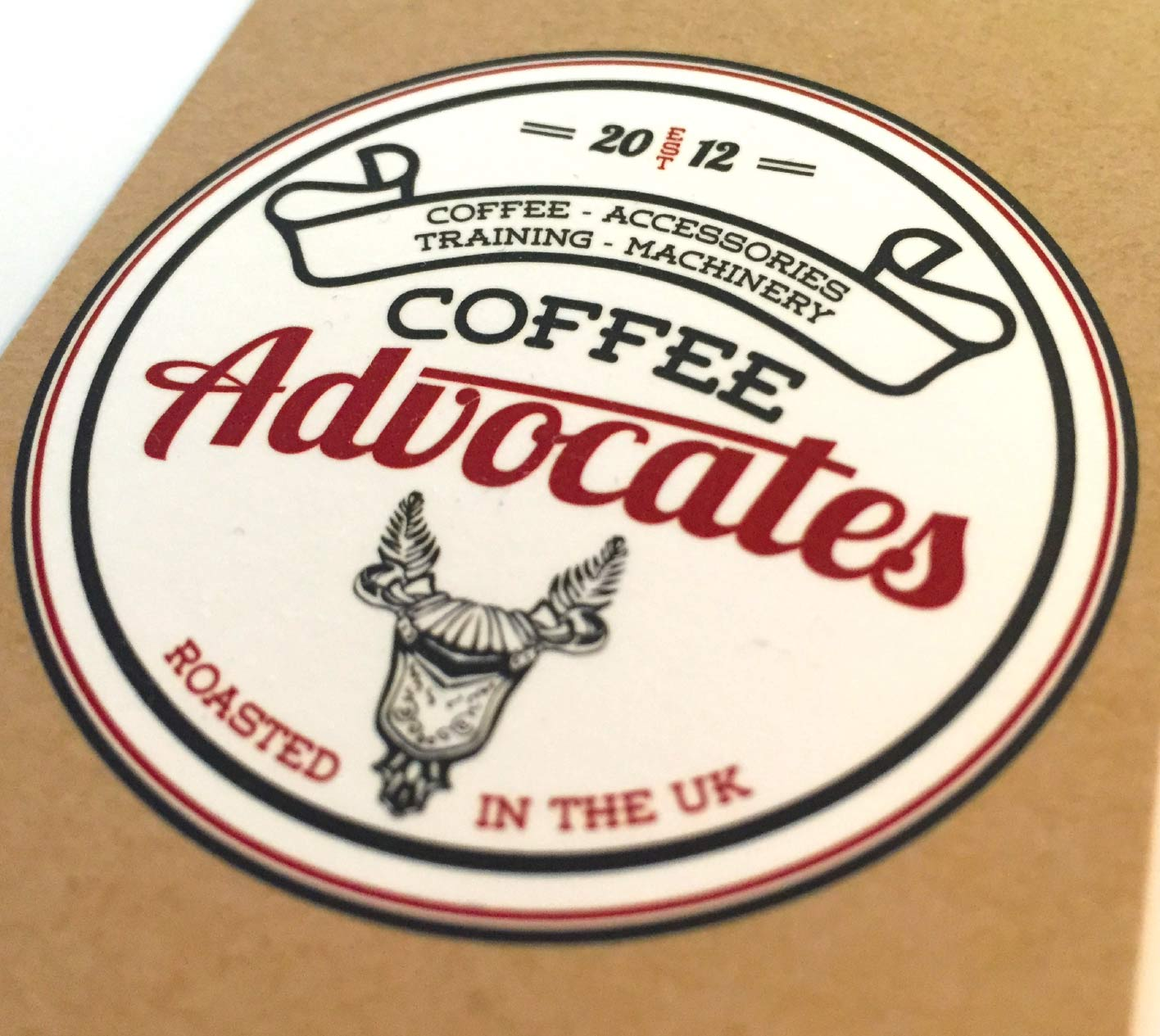 Business card design for Coffee Advocates