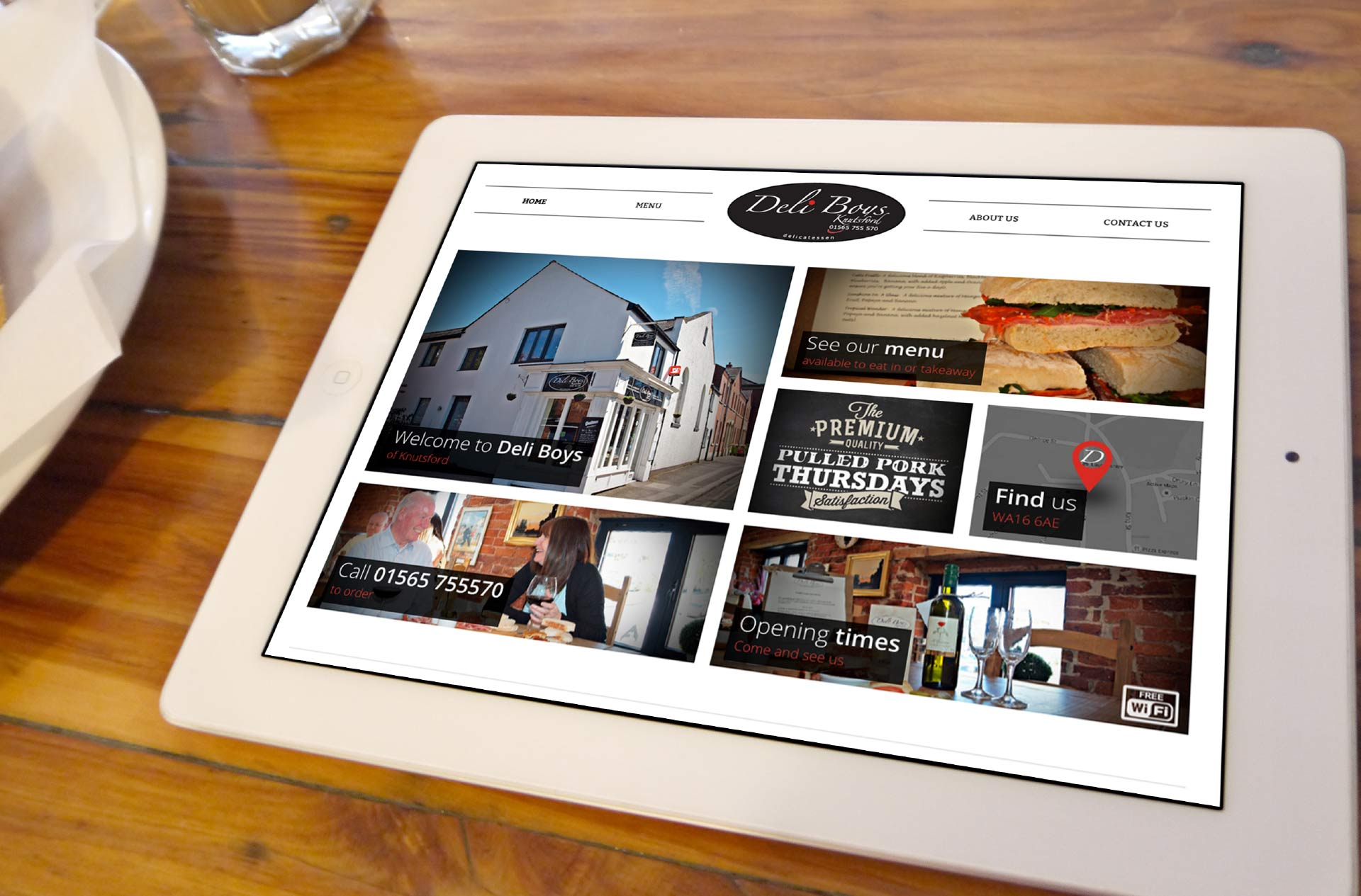 Website design for Deli Boys of Knutsford