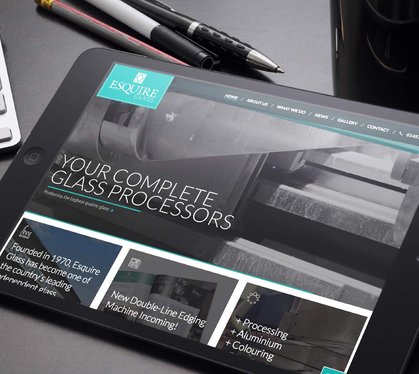 Website design for Esquire Glass, Glossop