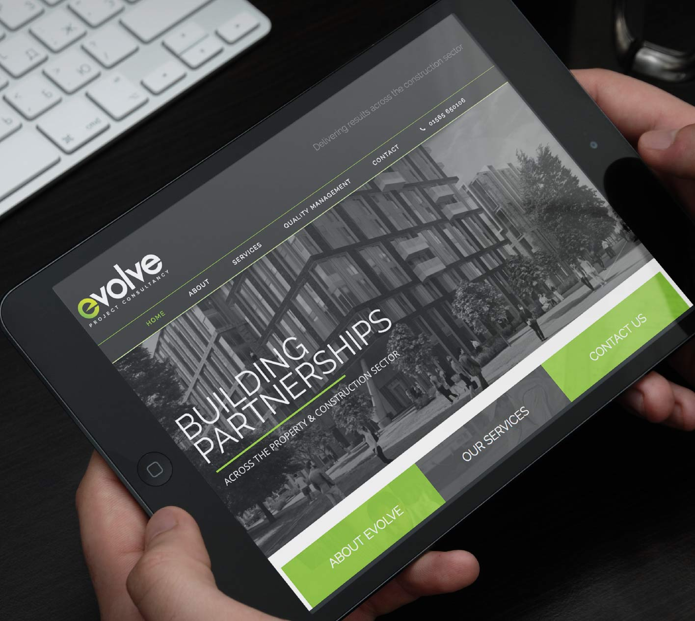 Logo design and Website design for Evolve, Knutsford