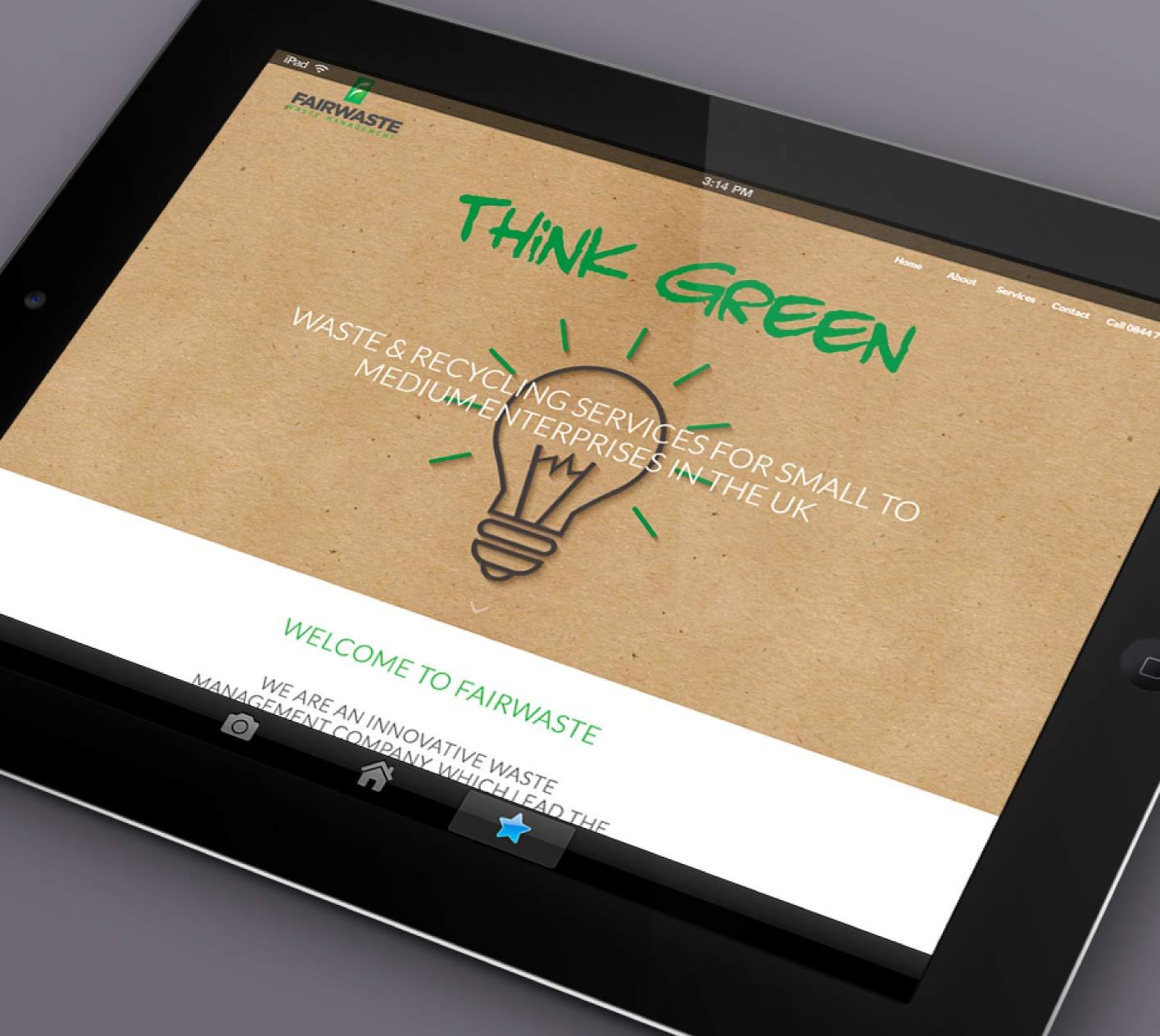 Logo and web design for Fairwaste