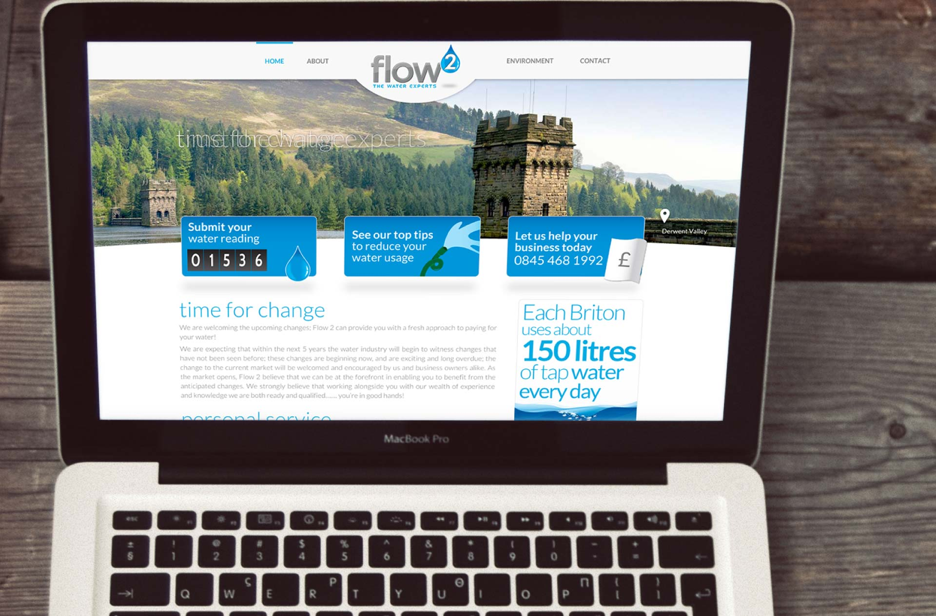Website design for Flow 2