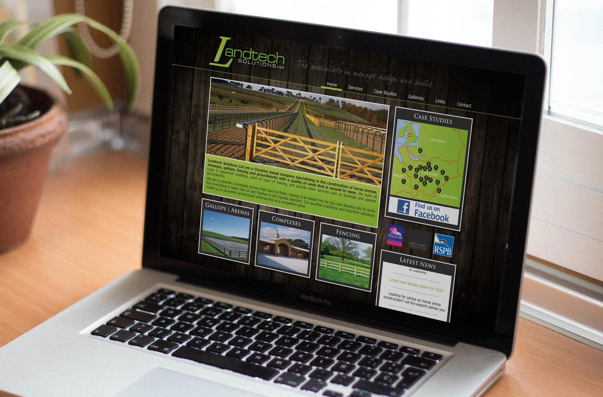Web design for Landtech Solutions, Cheshire