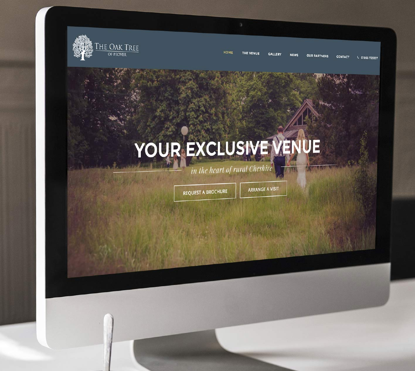Web design for The Oak Tree of Peover