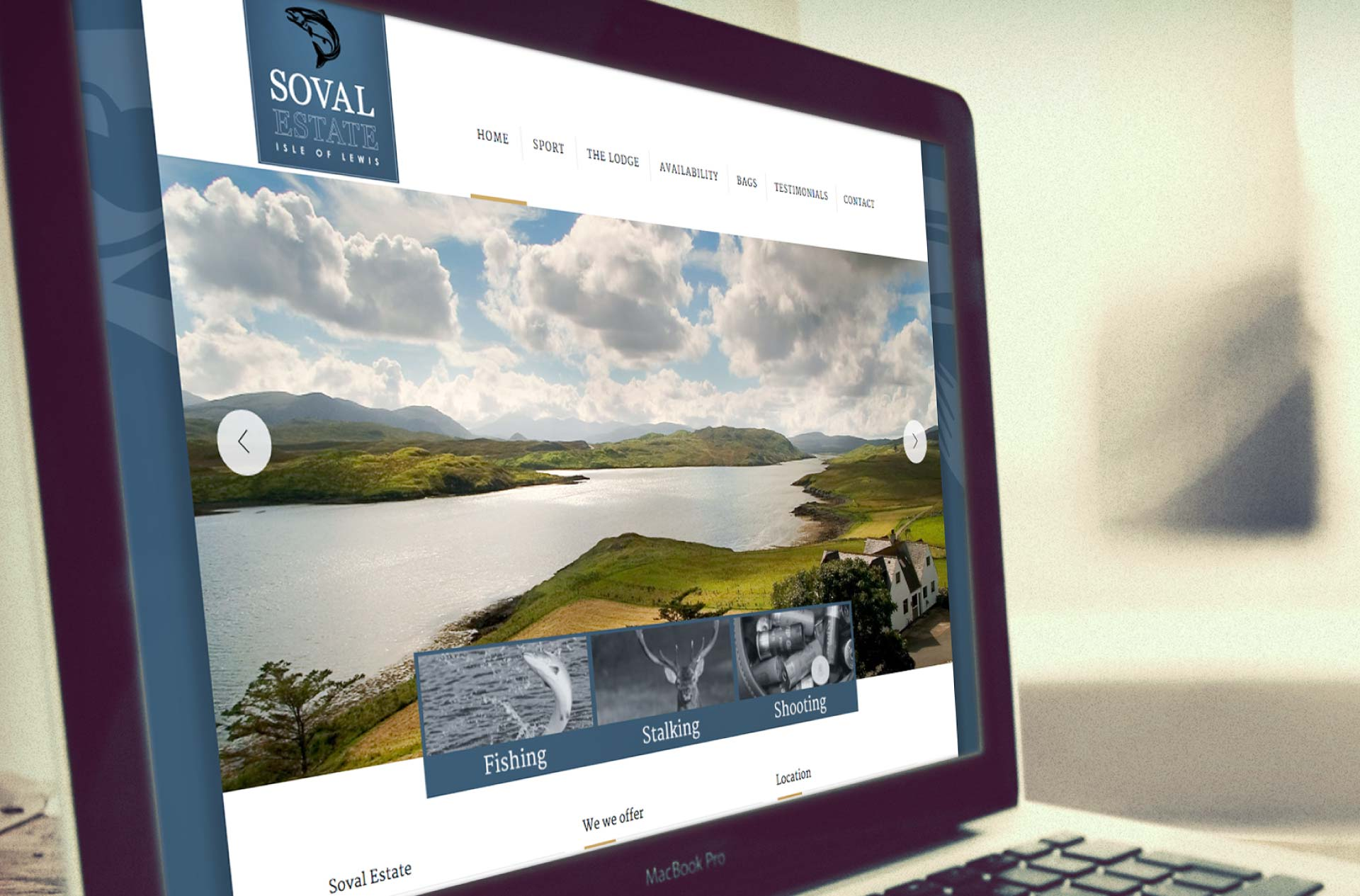 Logo design and web design for Soval Estate, Isle of Lewis