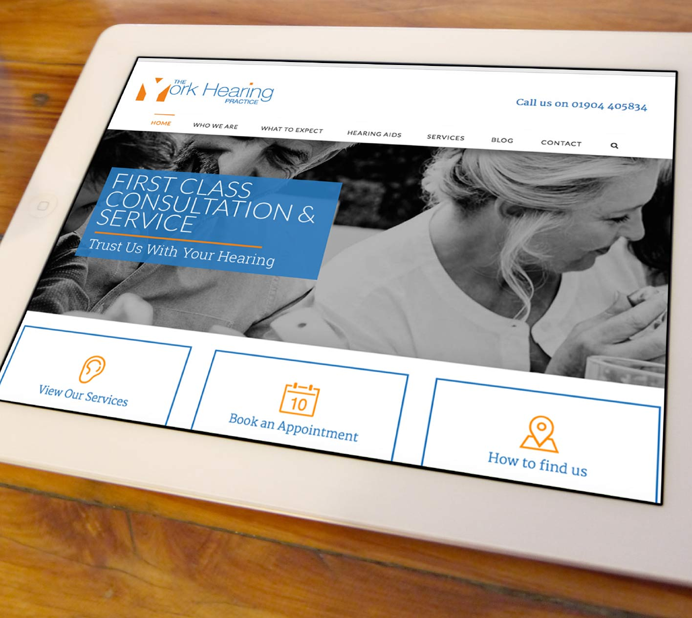 Web design for The York Hearing Practice