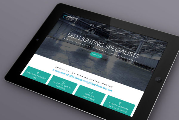Web design for Pro Active Energy Solutions